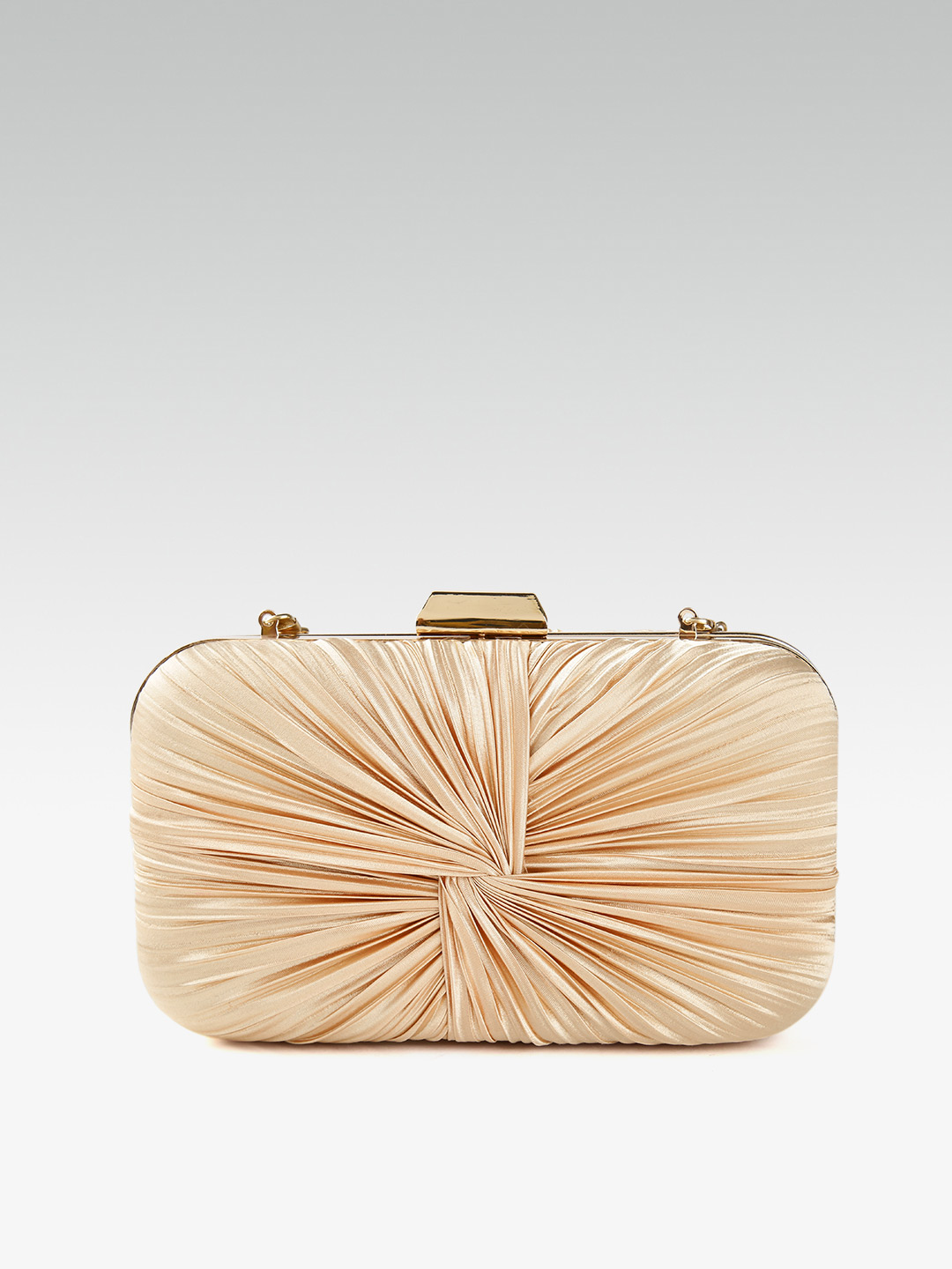 Clutches-Beaming In Drape Gold Clutch3