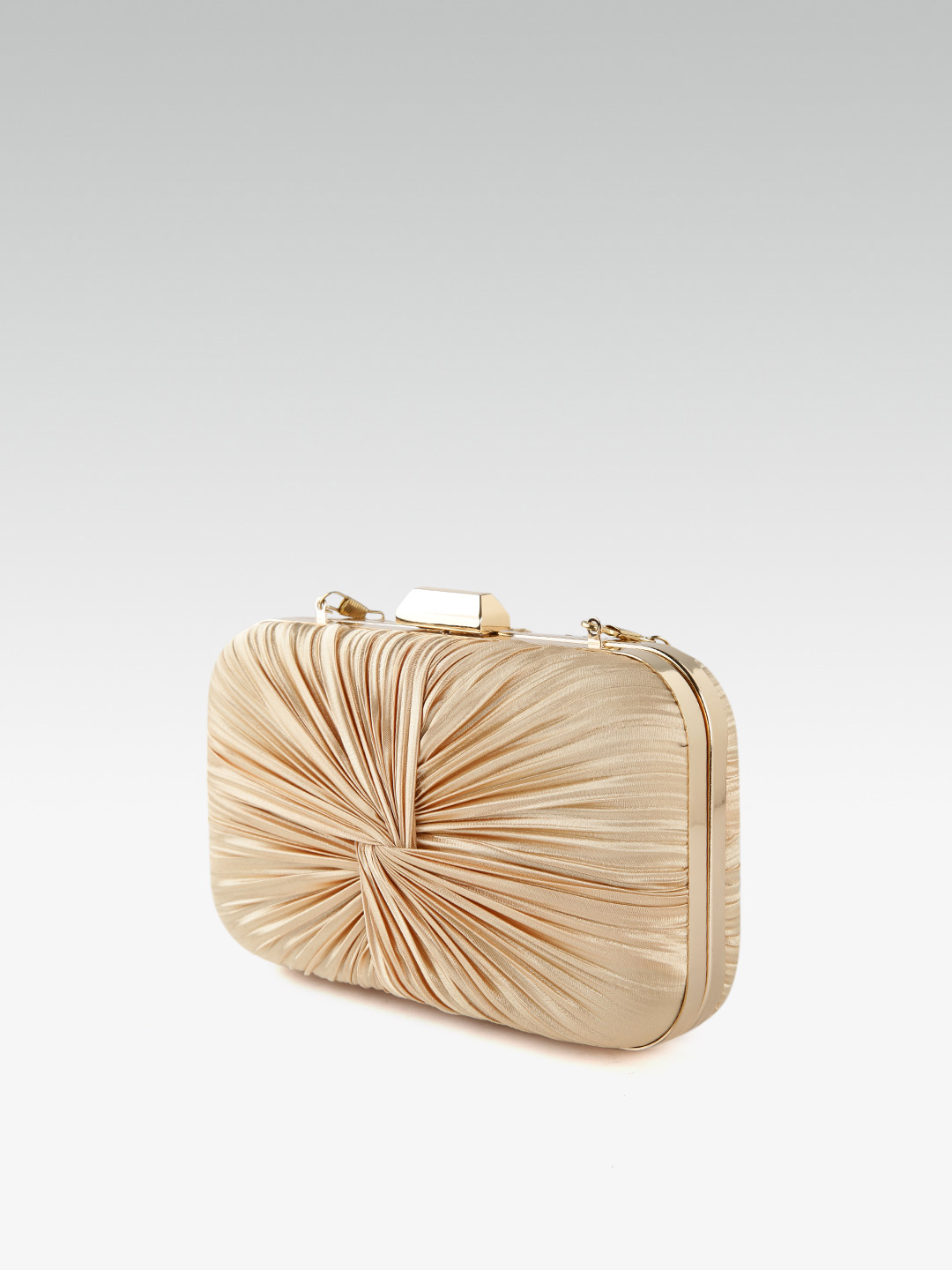 Clutches-Beaming In Drape Gold Clutch6