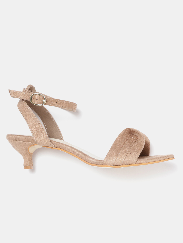 Heels and Wedges-Beige Here I Bow Kitten Heels3