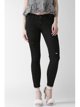 Denims Jeggings and Leggings-Black It Out Ankle Length Denims1