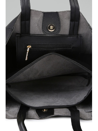 Hand Bags-Black Tied To Fashion Handbag6