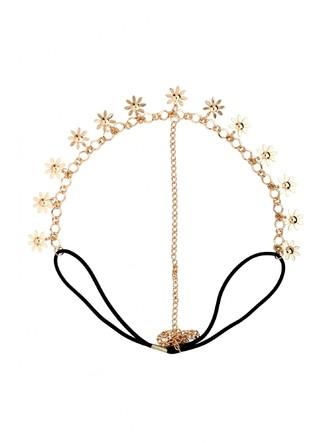 Hair Accessories-Blooming Flowers Head Chain1