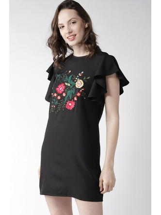 Dresses-Blooms In Black Dress2
