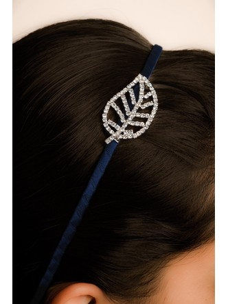 Hair Accessories-Blue Autumn Leaf Hairband3