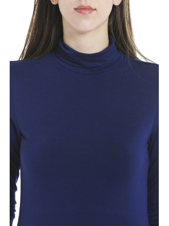 Tops-Blue Keep Me Warm Turtleneck Top6