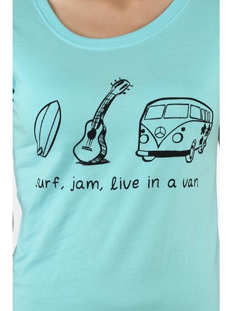 T-Shirts-Blue The Road Trip Life Tee3