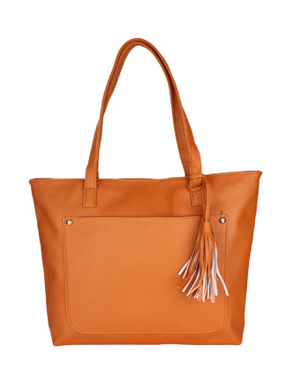 Hand Bags-Brown Pocket The Tassel Handbag6
