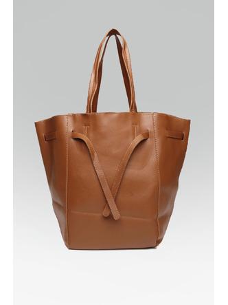 Hand Bags-Brown Tied To Fashion Handbag3