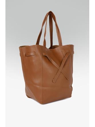 Hand Bags-Brown Tied To Fashion Handbag4