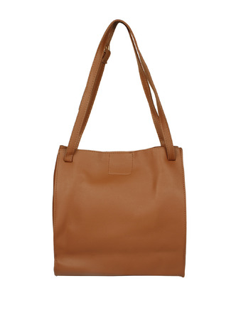 Hand Bags-Brown Turn It Up Handbag3