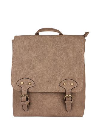 Backpacks-Buckled Up Textured Backpack1
