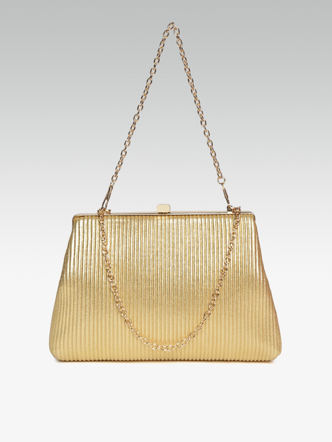 Clutches-Sweet As Ever Gold Striped Clutch2