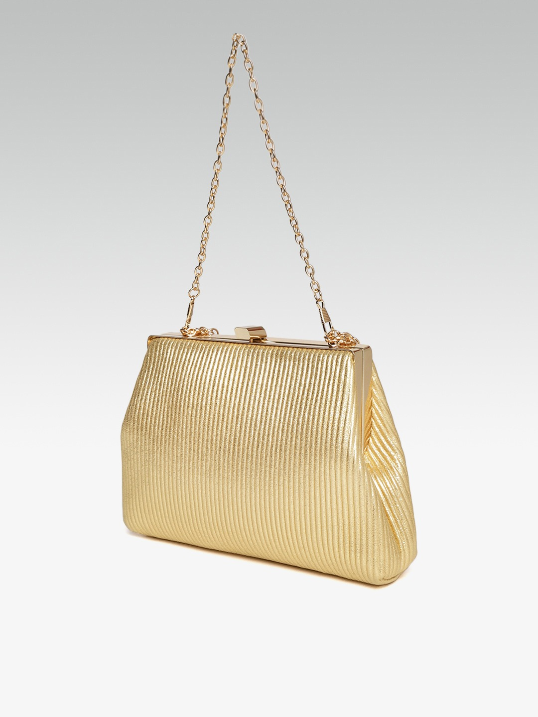 Clutches-Sweet As Ever Gold Striped Clutch3