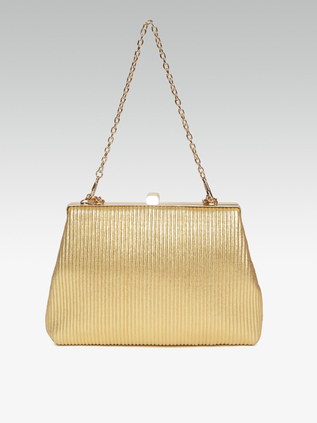 Clutches-Sweet As Ever Gold Striped Clutch4