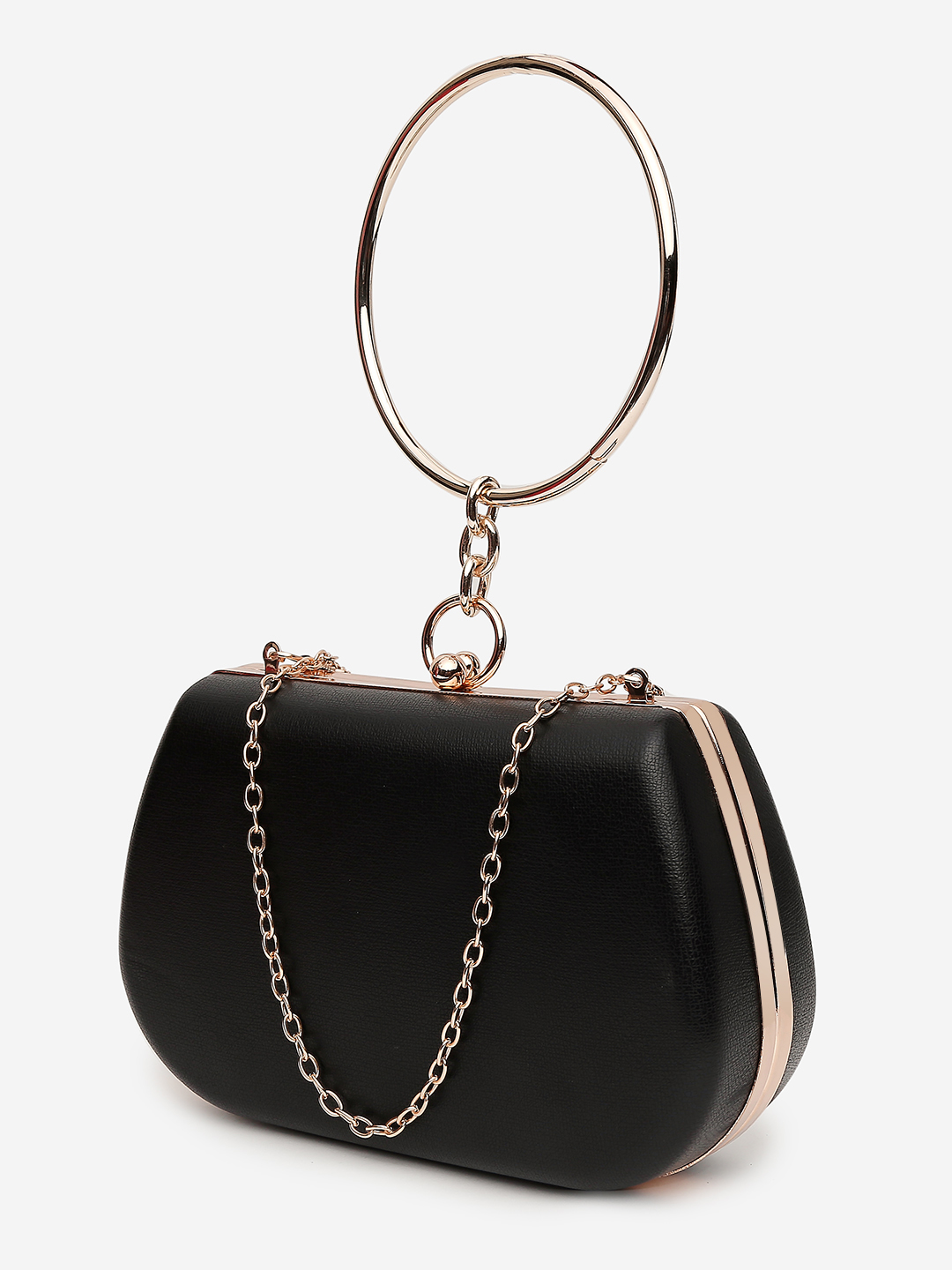 Clutches-The Eye Catcher Black Clutch2