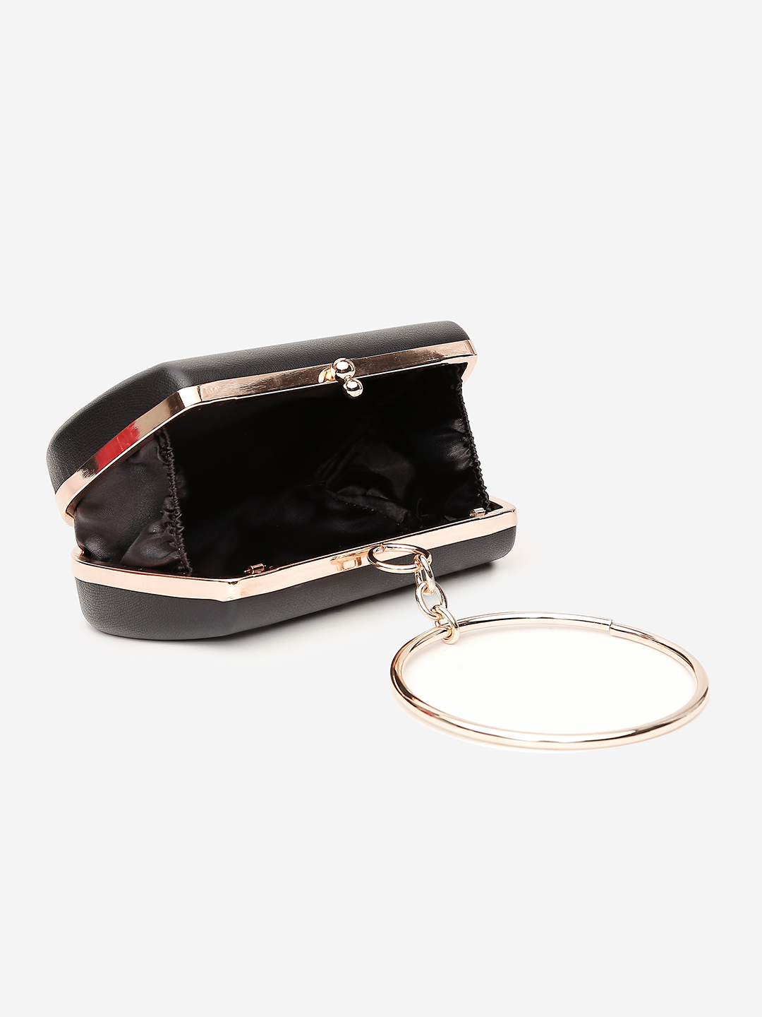 Clutches-The Eye Catcher Black Clutch4