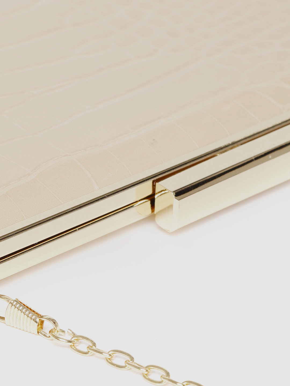 Clutches-Sassy Snakeskin Gold Clutch6