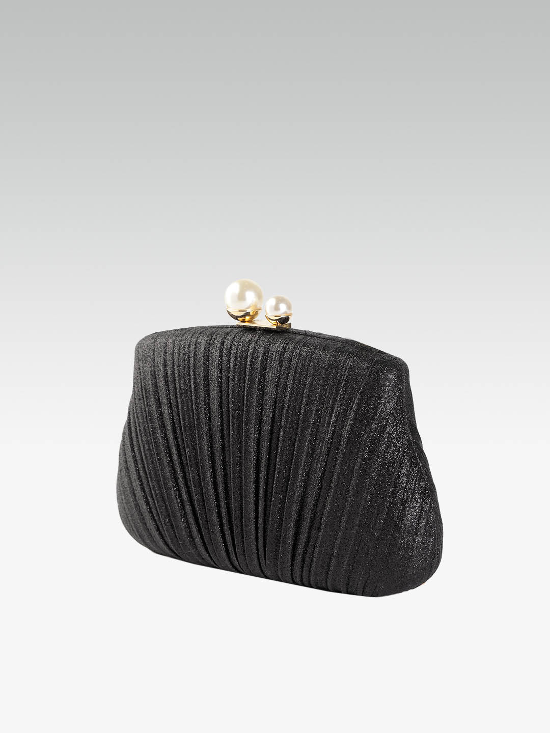 Clutches-Pleated With Grace Black Clutch2