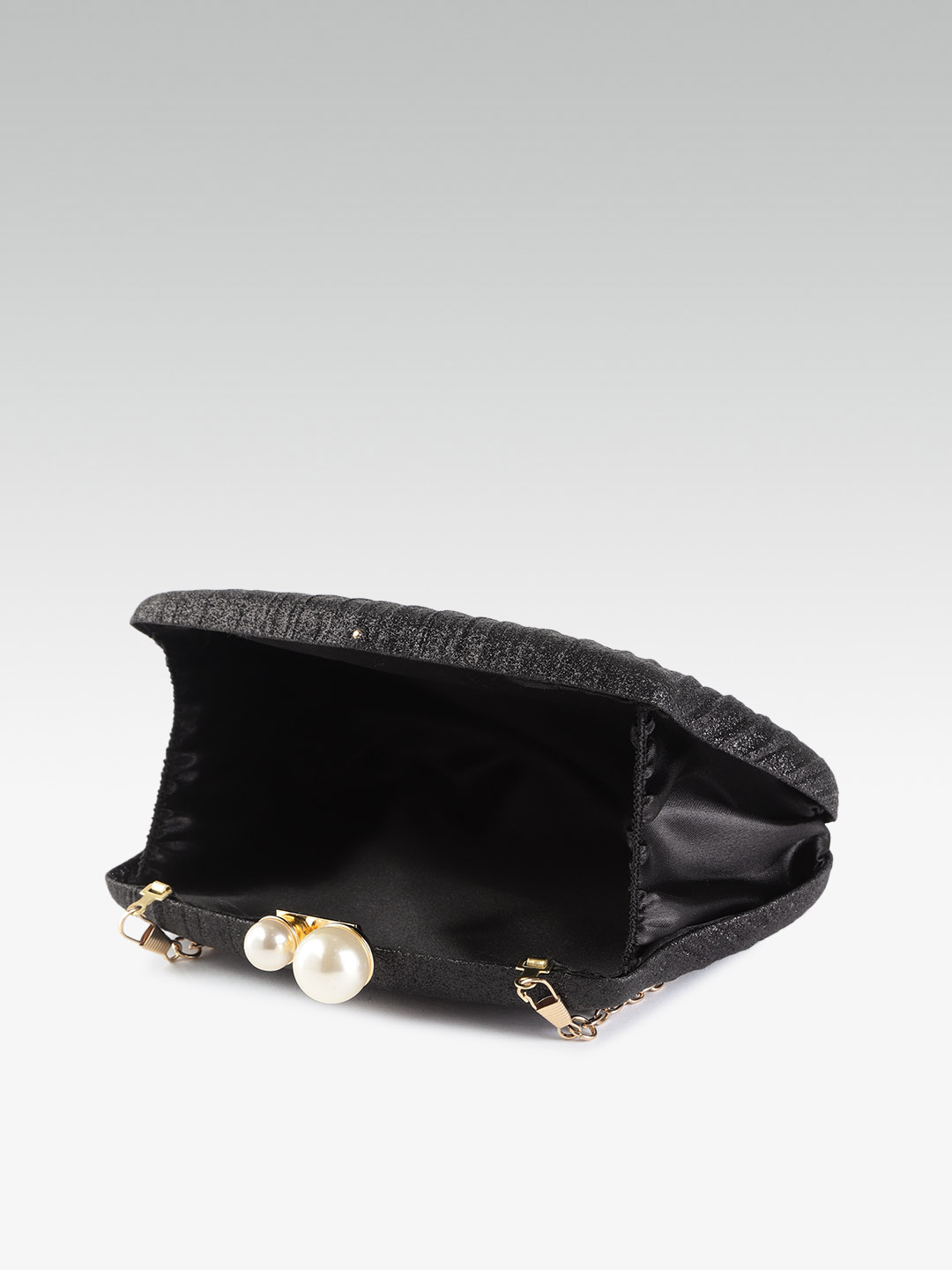 Clutches-Pleated With Grace Black Clutch4