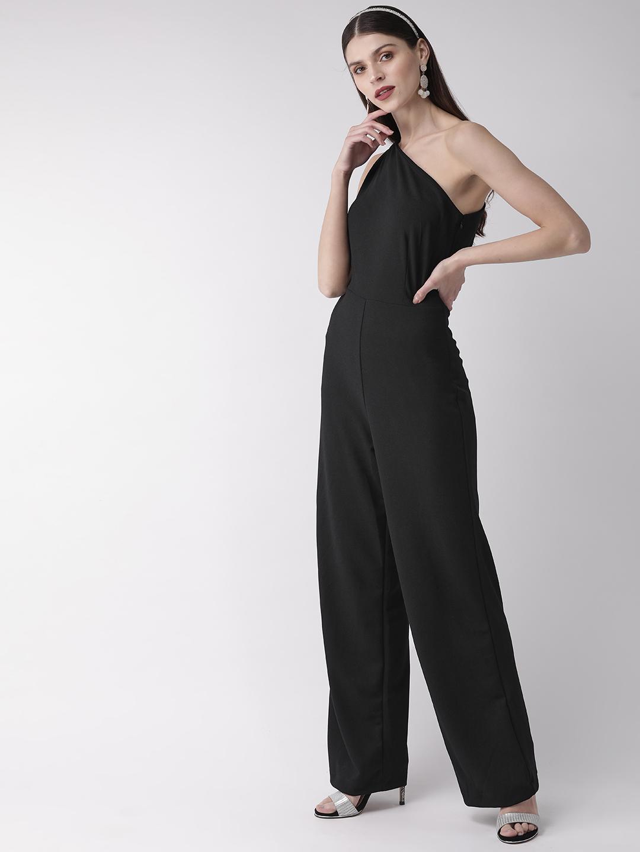 Jumpsuits-Black Get On The Right Side One Shoulder Jumpsuit3