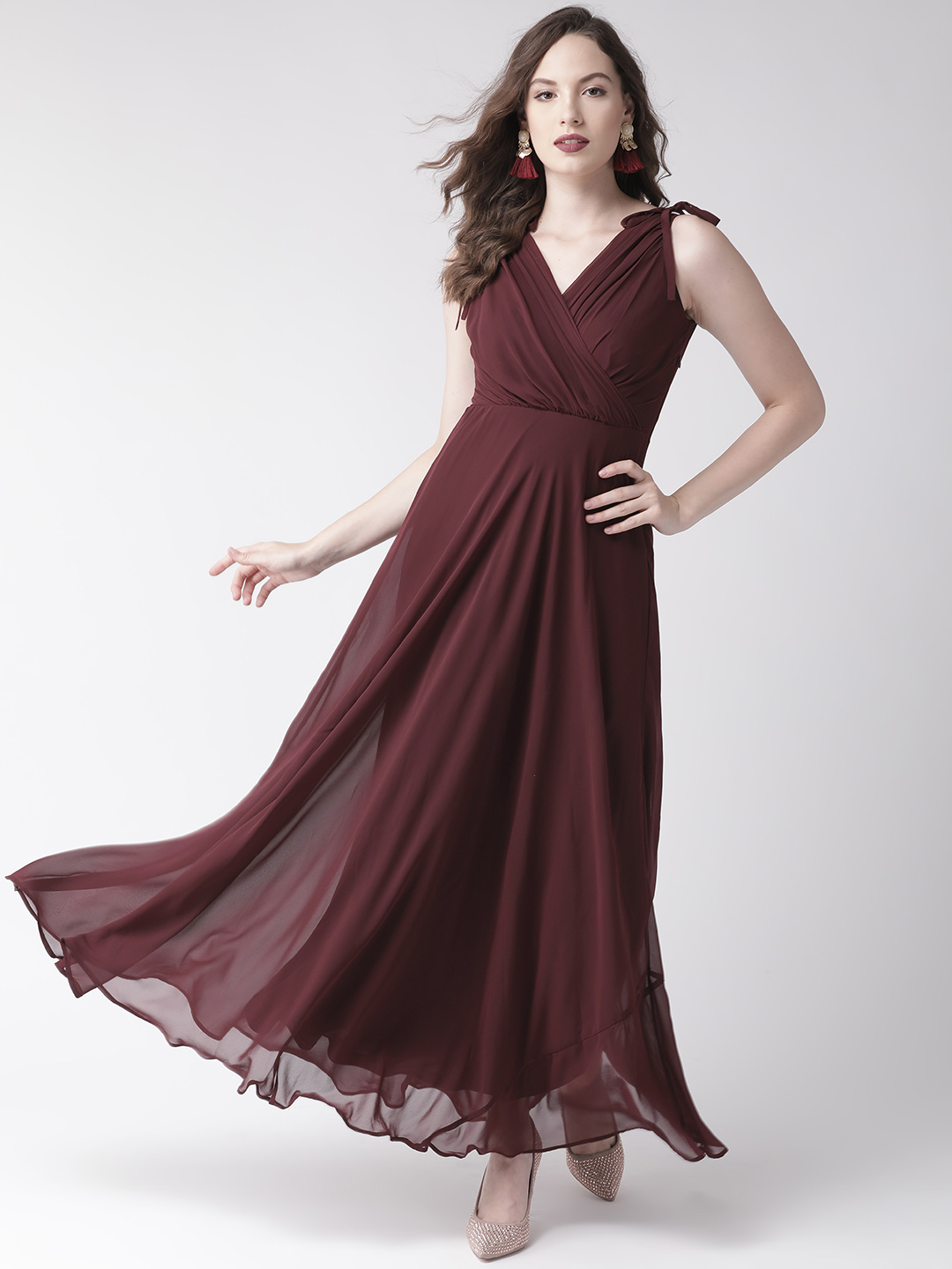 Dresses-Maroon Ready For The Royal Ball Maxi Dress1
