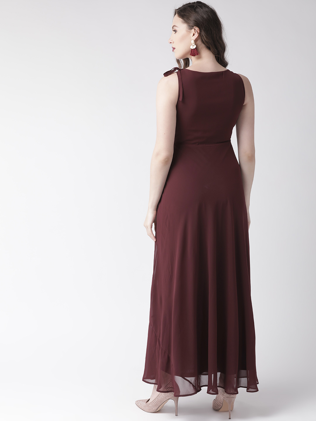 Dresses-Maroon Ready For The Royal Ball Maxi Dress2