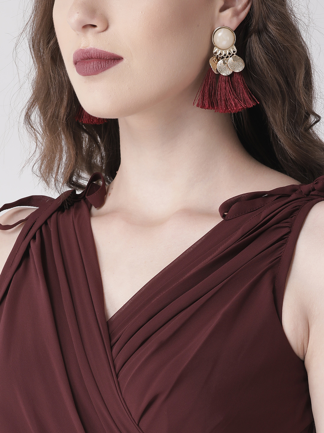 Dresses-Maroon Ready For The Royal Ball Maxi Dress3