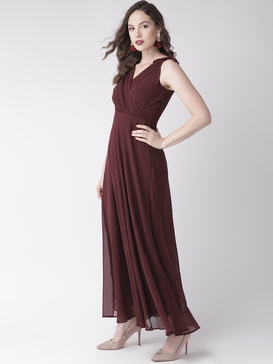 Dresses-Maroon Ready For The Royal Ball Maxi Dress4