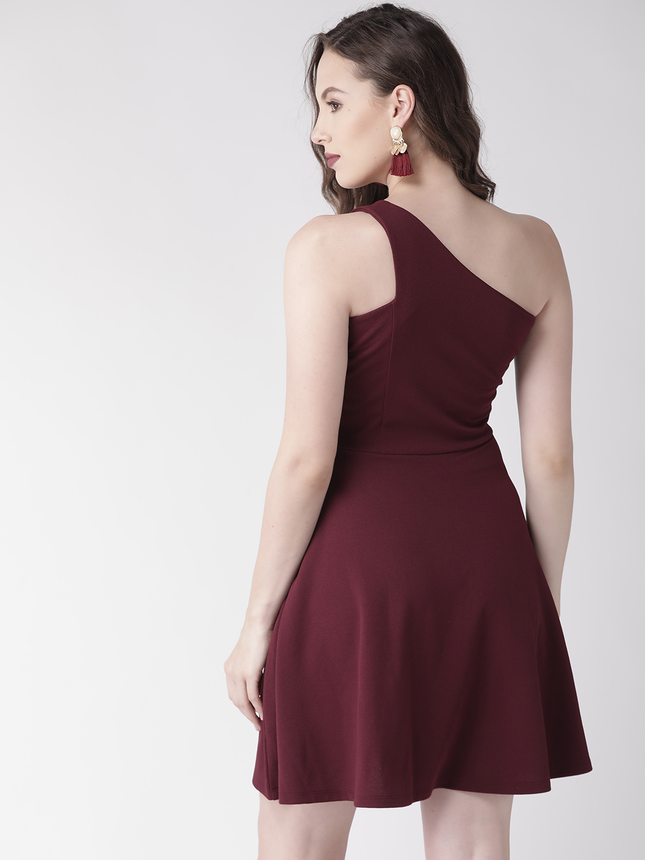 Dresses-Maroon Edging Towards Style Dress4