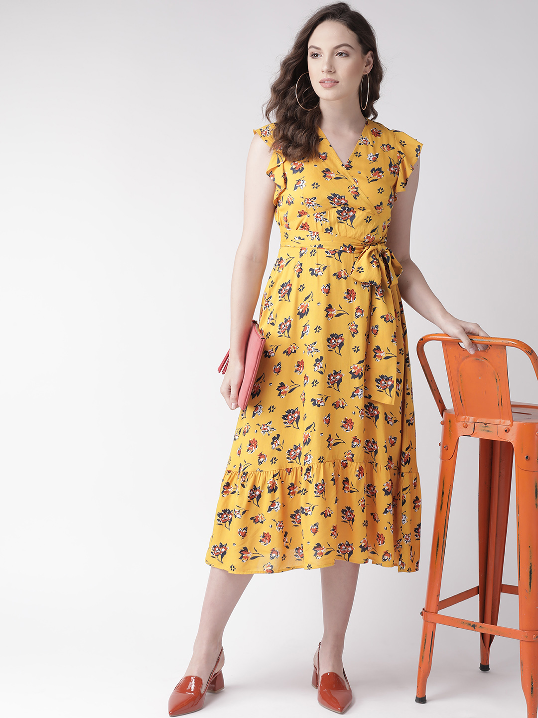 Dresses-Cool Classic Revival Yellow Dress4