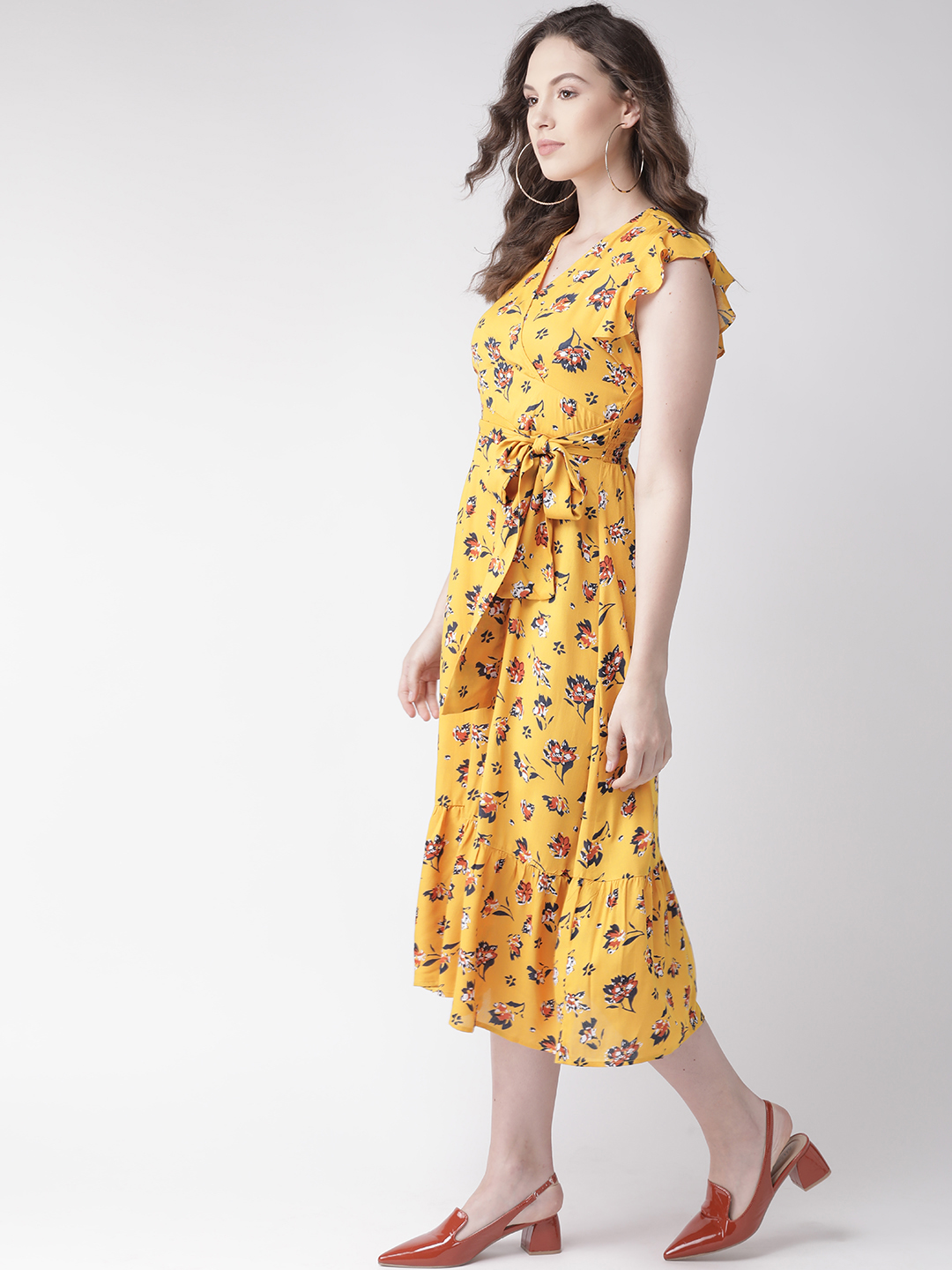 Dresses-Cool Classic Revival Yellow Dress5