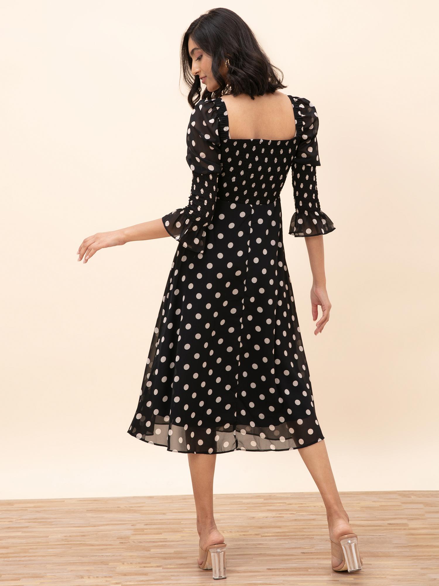 Dresses-Slipping Into Polka Midi Dress3