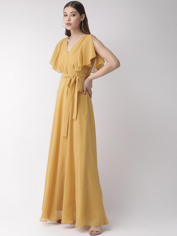 Dresses-Yellow On A High Maxi Dress2
