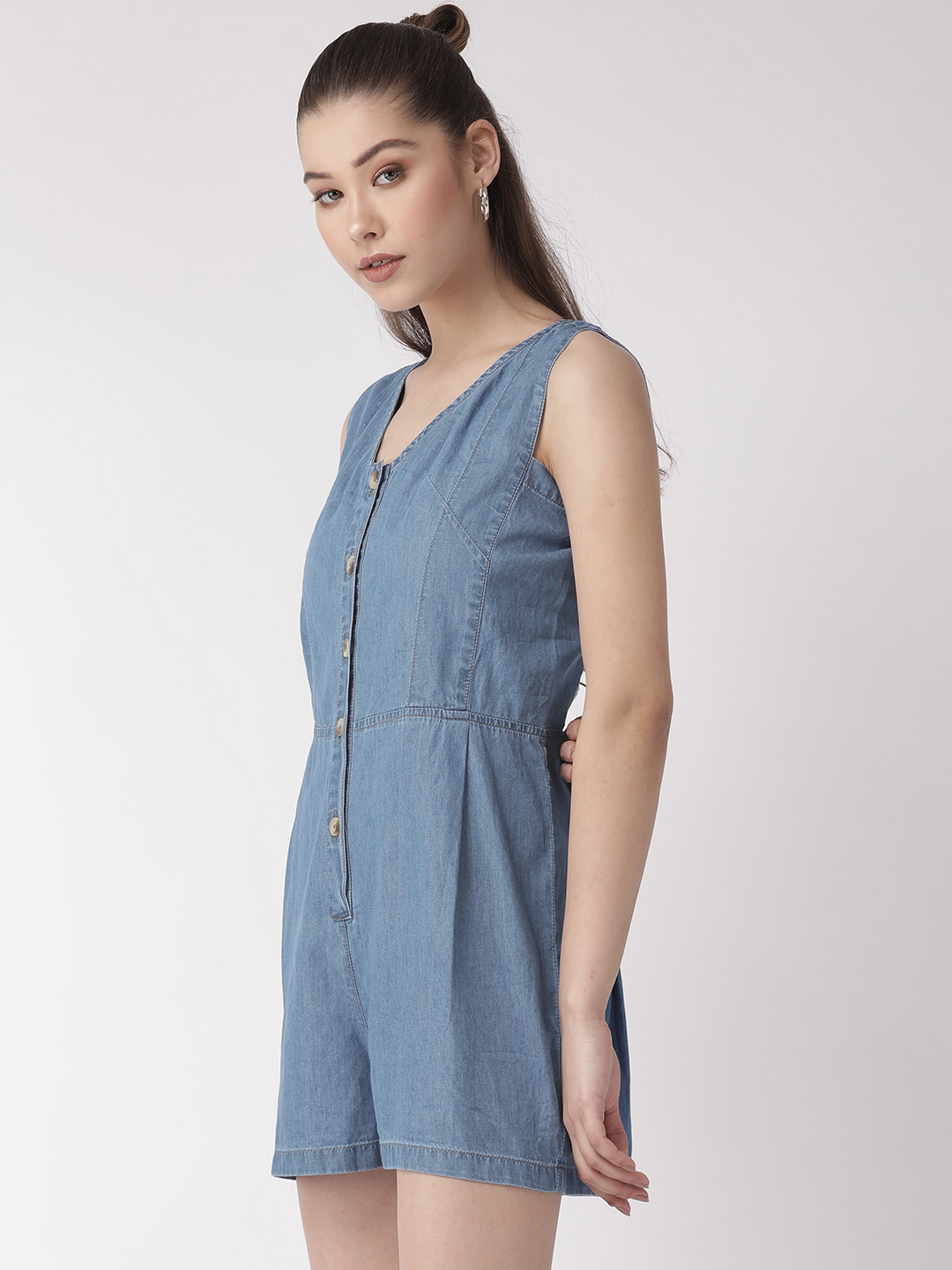 Jumpsuits-Style Me Comfort Denim Playsuit2