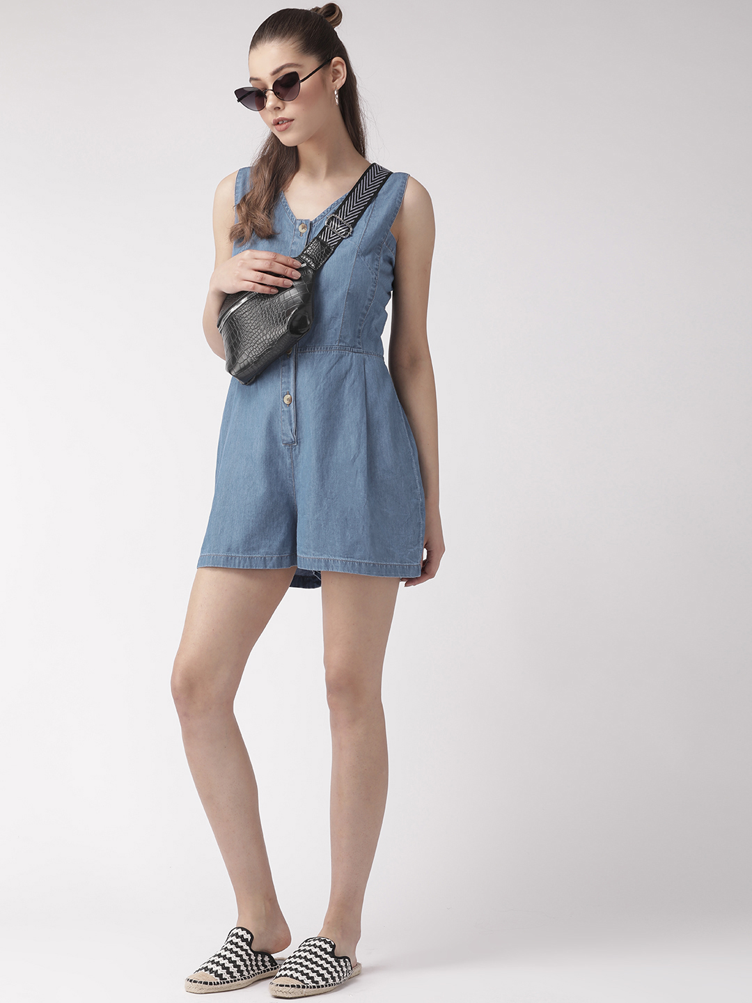 Jumpsuits-Style Me Comfort Denim Playsuit4