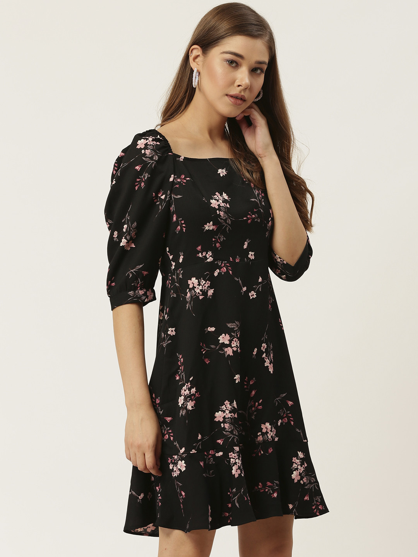 Dresses-The Dark Floral Nights Dress1