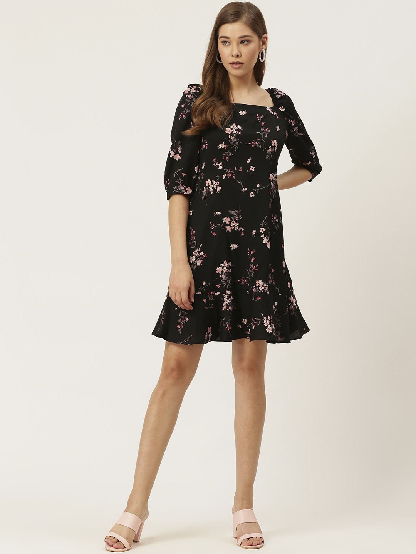 Dresses-The Dark Floral Nights Dress4