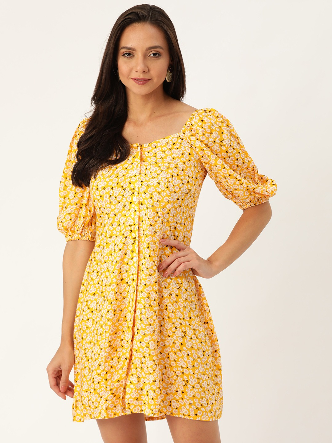 Dresses-Spring Sunshine Floral Dress1
