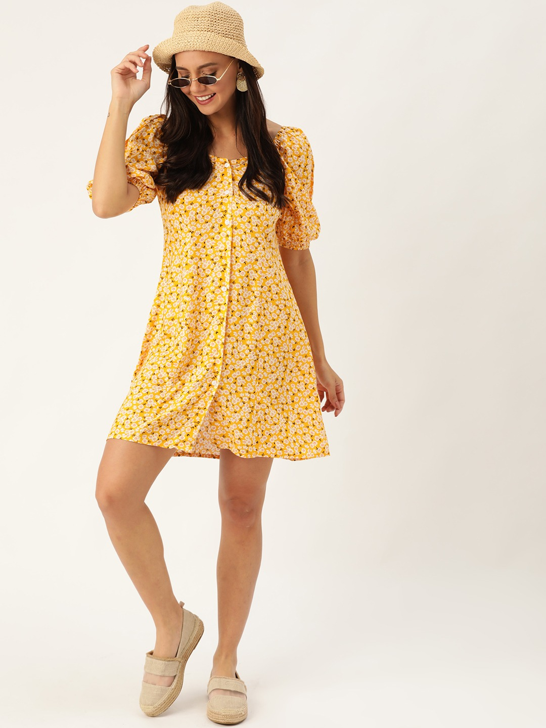 Dresses-Spring Sunshine Floral Dress2
