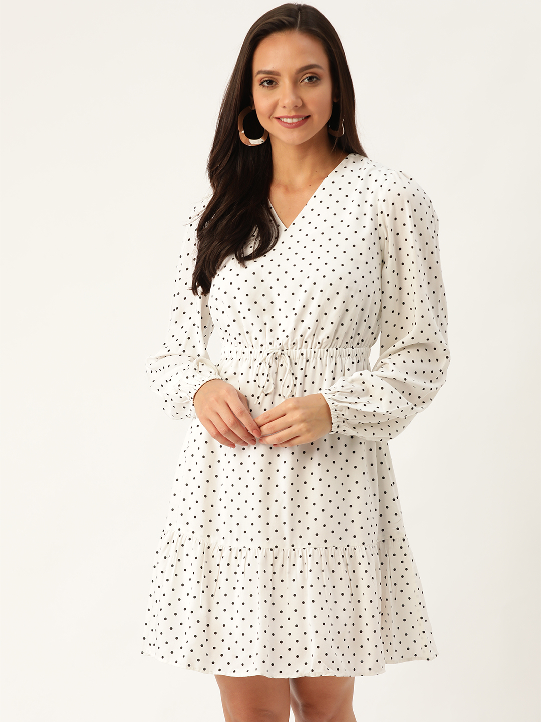 Dresses-Simply Elegant Polka Dot Dress1