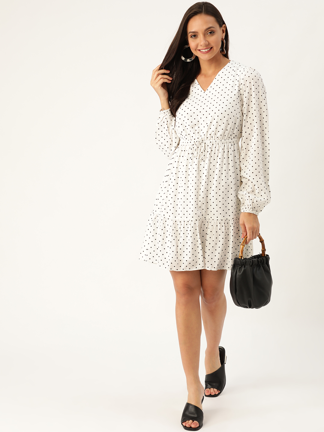 Dresses-Simply Elegant Polka Dot Dress2