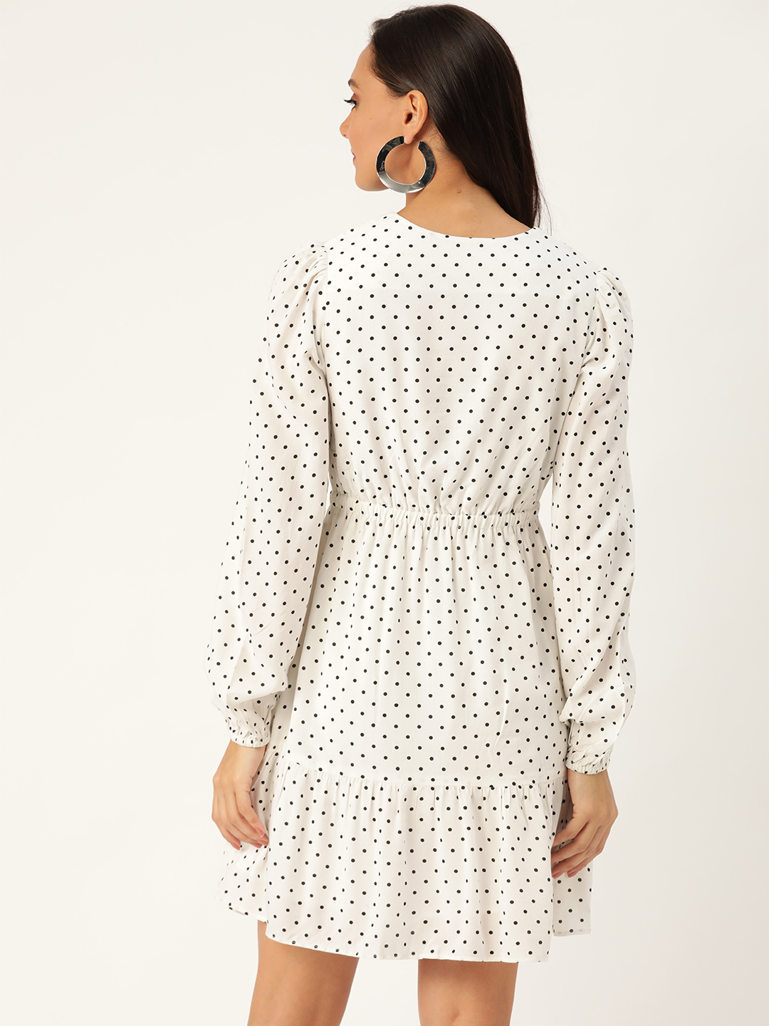 Dresses-Simply Elegant Polka Dot Dress3