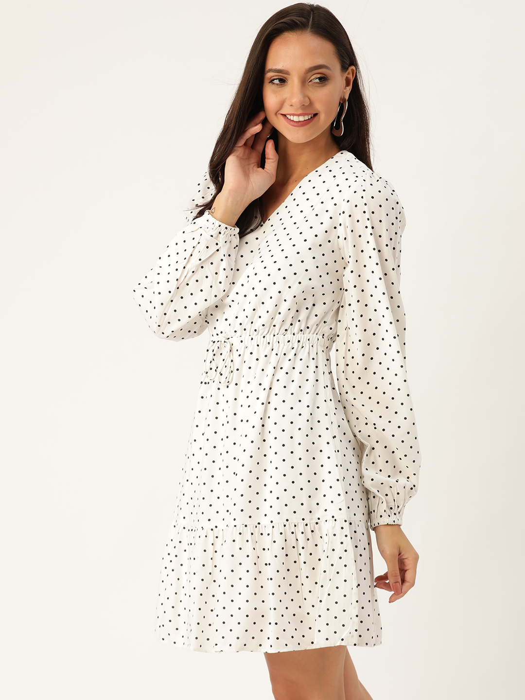 Dresses-Simply Elegant Polka Dot Dress4