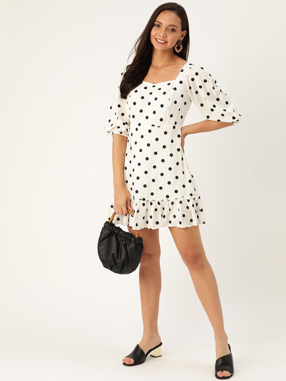 Dresses-Polka Dotted Love White Dress2