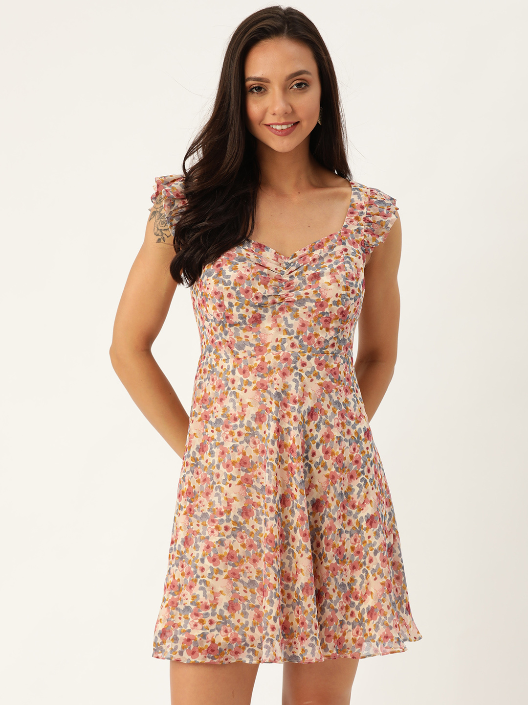 Dresses-Dressed To Frill Floral Dress1
