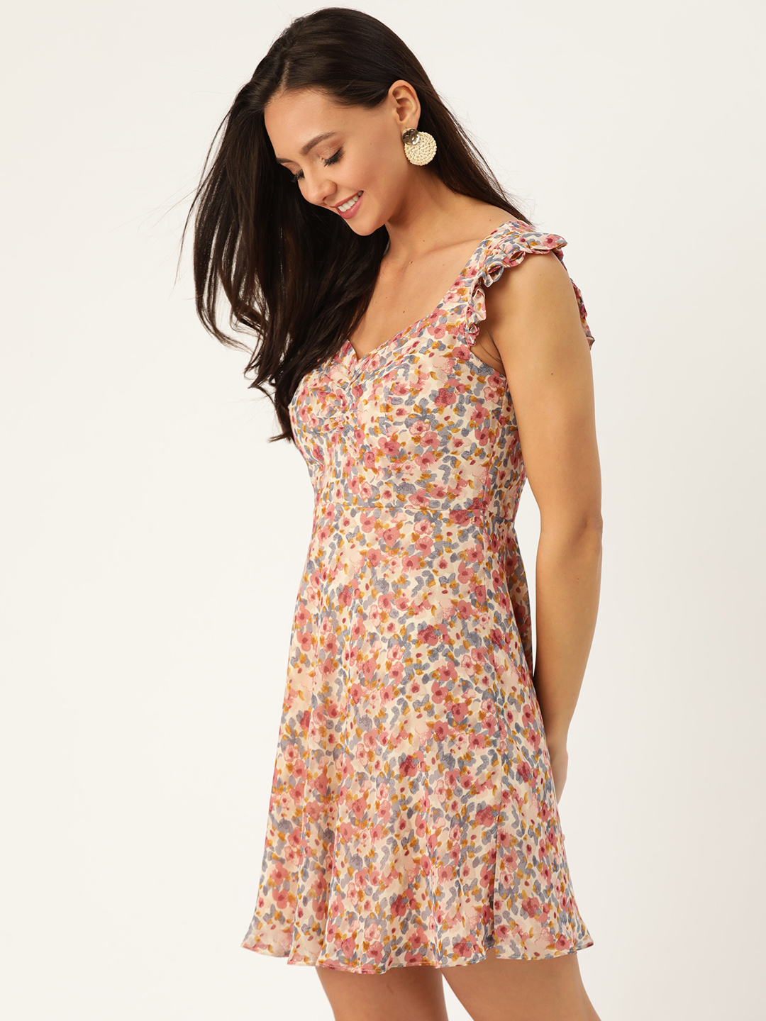 Dresses-Dressed To Frill Floral Dress4