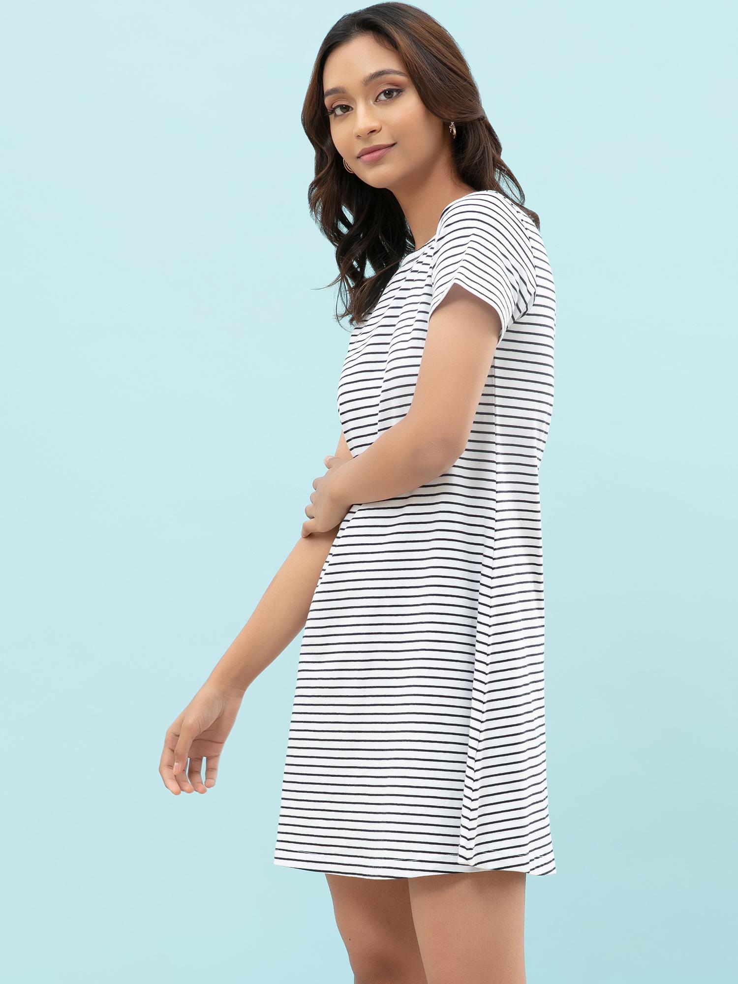 Dresses-On A Line Black Striped Dress4