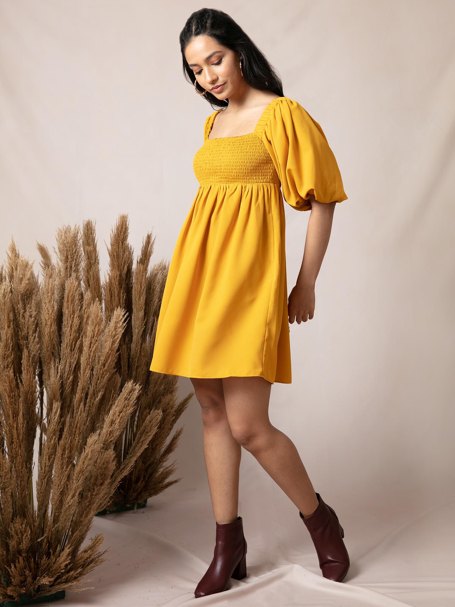 Dresses-Yellow Smock It Off Dress4