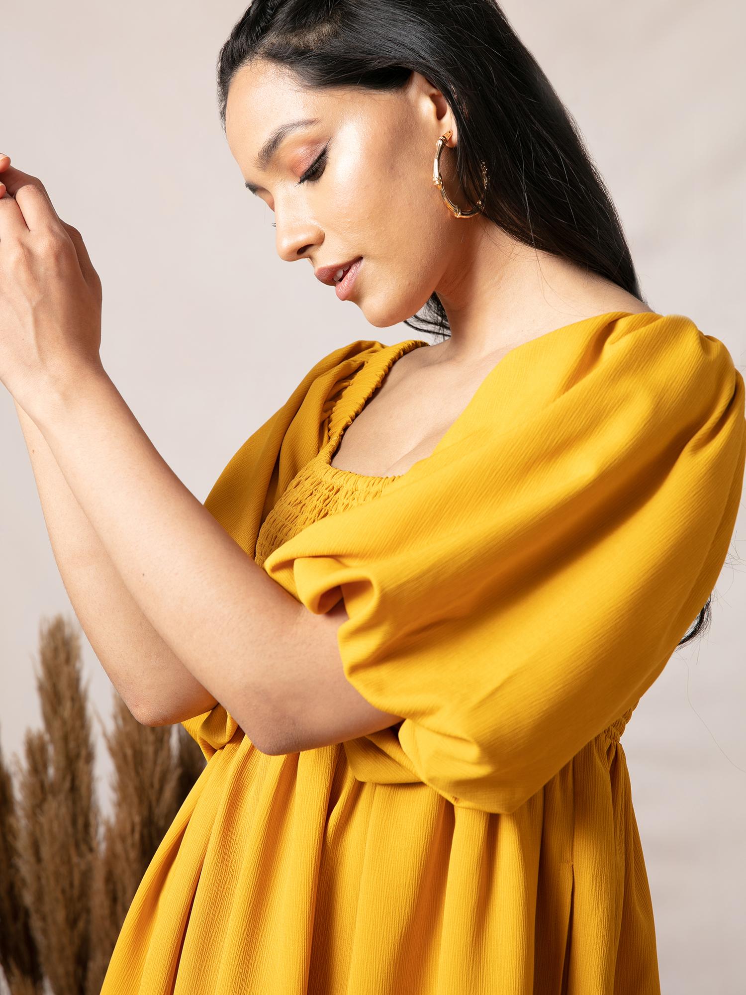 Dresses-Yellow Smock It Off Dress5