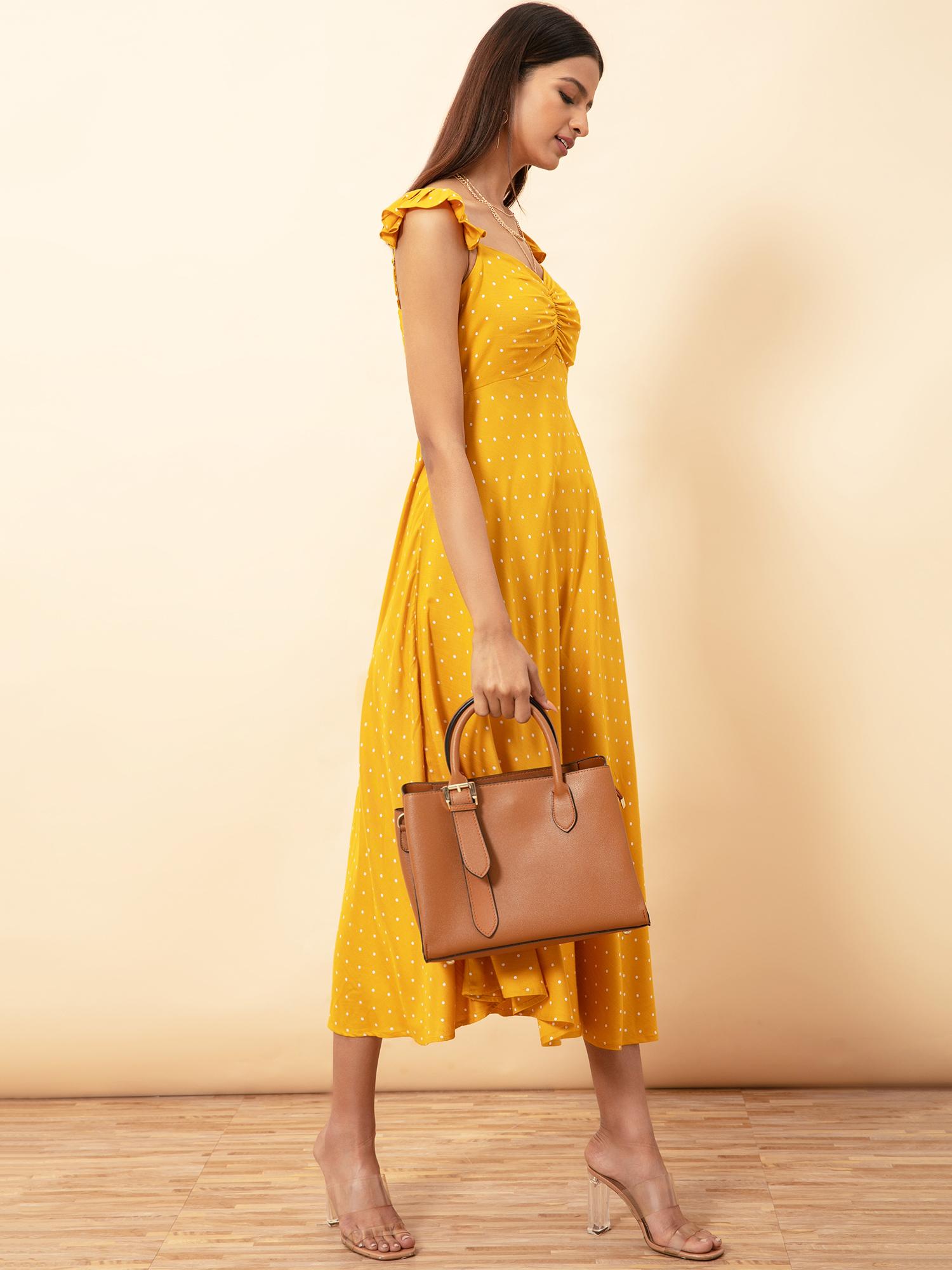 Dresses-Yellow The Polka Playful Midi Dress3